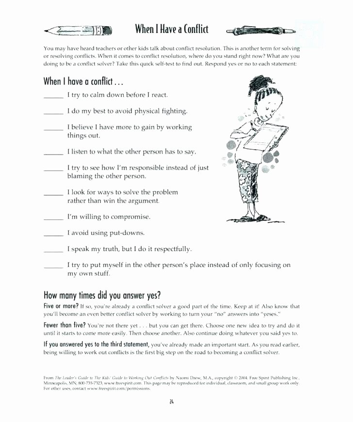 Conflict Worksheets Pdf social Problem solving Worksheets