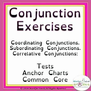 Conjunction Worksheet 5th Grade Conjunctions Worksheets for Grade 5