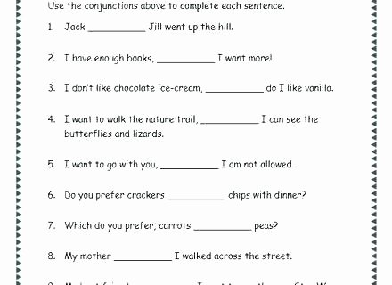 Conjunction Worksheets 6th Grade Conjunction Worksheets for Grade 1 Conjunction and Pound