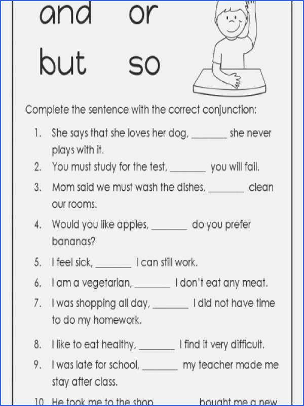 Conjunction Worksheets 6th Grade Coordinating Conjunction Worksheet Beautiful Subordinating