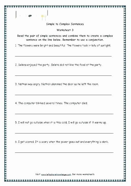 Conjunctions Worksheet 5th Grade Writing Pound Sentences Bining Worksheet 5th Grade Pdf