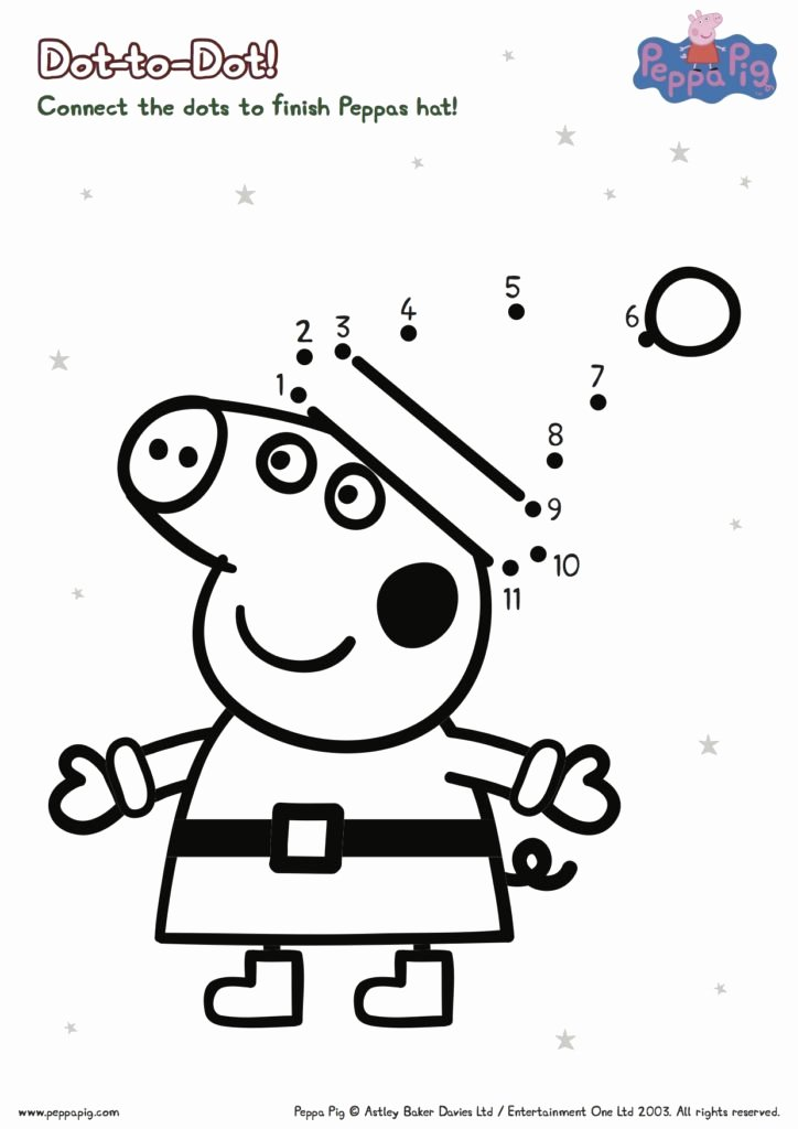 Connect the Dots Christmas Worksheets Coloring Peppa Pig Printable 71 Peppa Pig Bookmarks