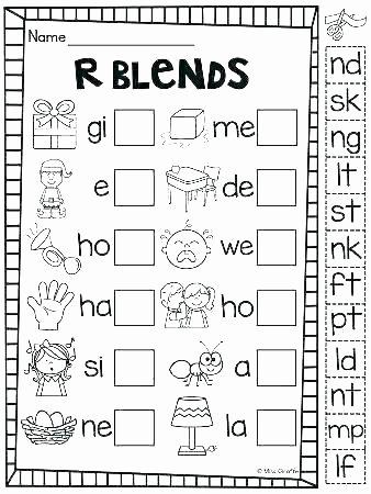 Consonant Blends Worksheets 3rd Grade Beginning Consonant Worksheets
