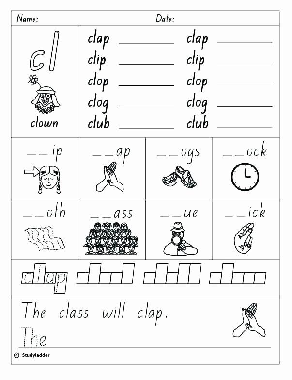 Consonant Blends Worksheets 3rd Grade Blends Worksheets Free Consonant Blends Worksheets for Grade