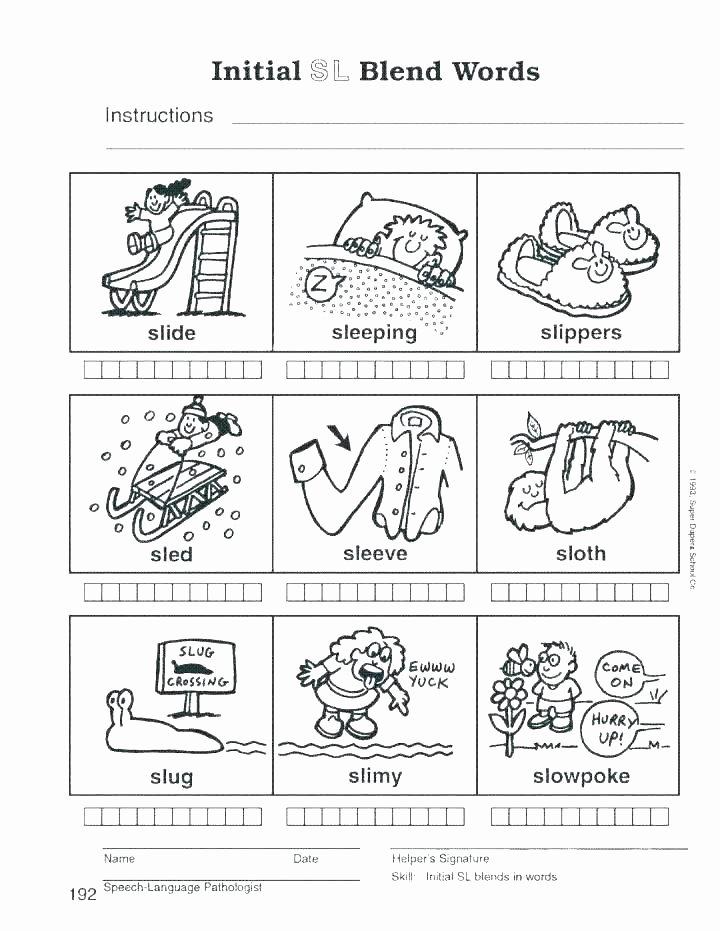 Consonant Blends Worksheets 3rd Grade Consonant Vowel Worksheets