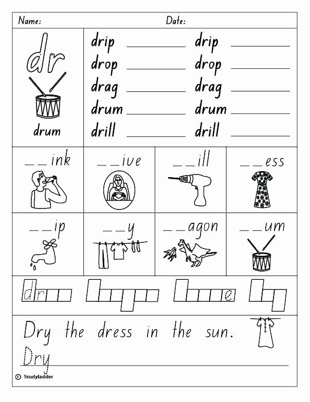 Consonant Blends Worksheets 3rd Grade Cvcc Word Blends Worksheets Consonant Blend Skills Line