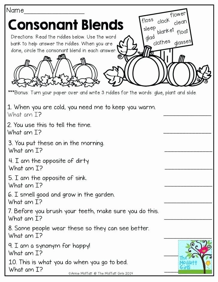 Consonant Blends Worksheets 3rd Grade Oz Phonics 3 Consonant Blends Words Digraphs Spelling