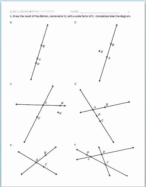 Construction Math Worksheets Unique Geometry 1 Worksheets
