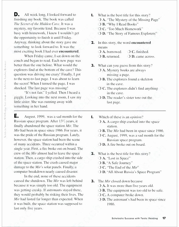 Context Clues 5th Grade Worksheets Context Clues Worksheets High School Luxury Grade Free for