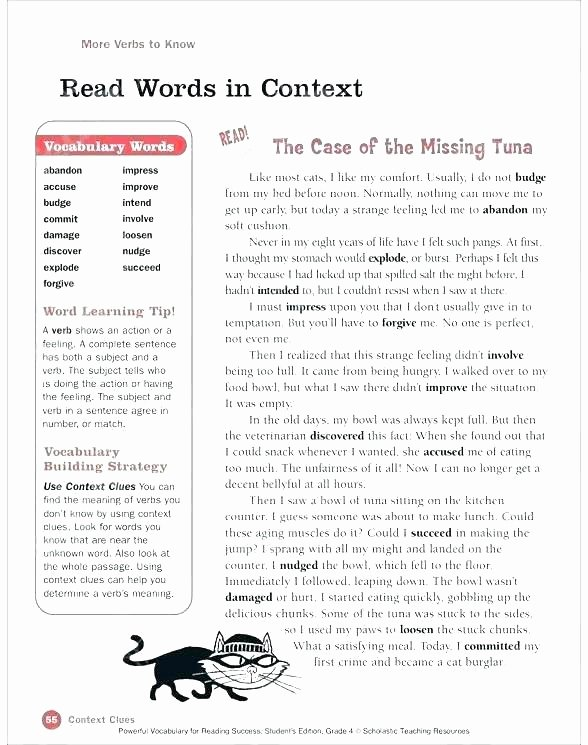 Context Clues 5th Grade Worksheets Context Clues Worksheets Third Grade Free Printable