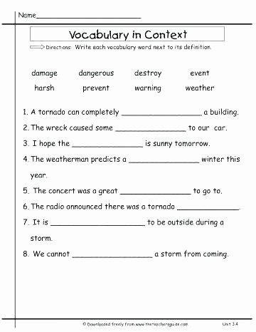 Context Clues Worksheets 1st Grade the Secret Garden Context Clues Worksheets for and Grade