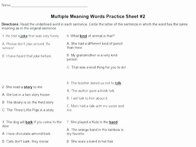 Context Clues Worksheets Grade 5 Context Clues Worksheets 6th Grade Pdf