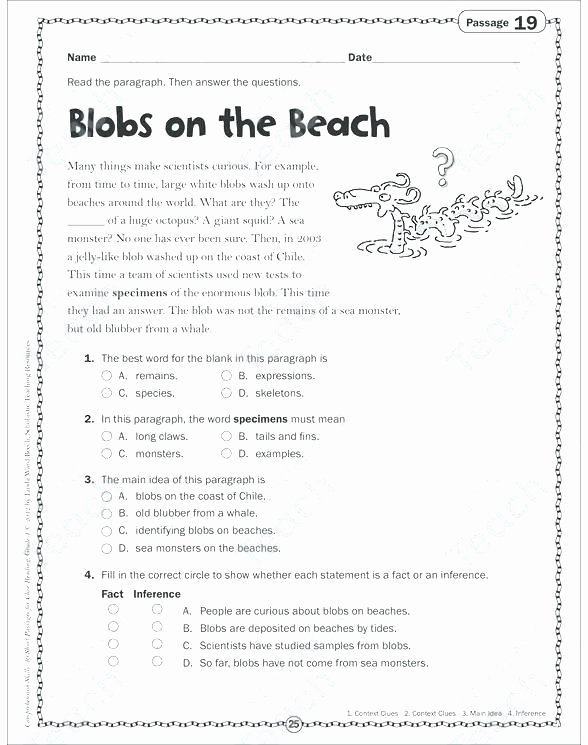 Context Clues Worksheets Grade 5 Context Clues Worksheets Grade Best Reading Prehension