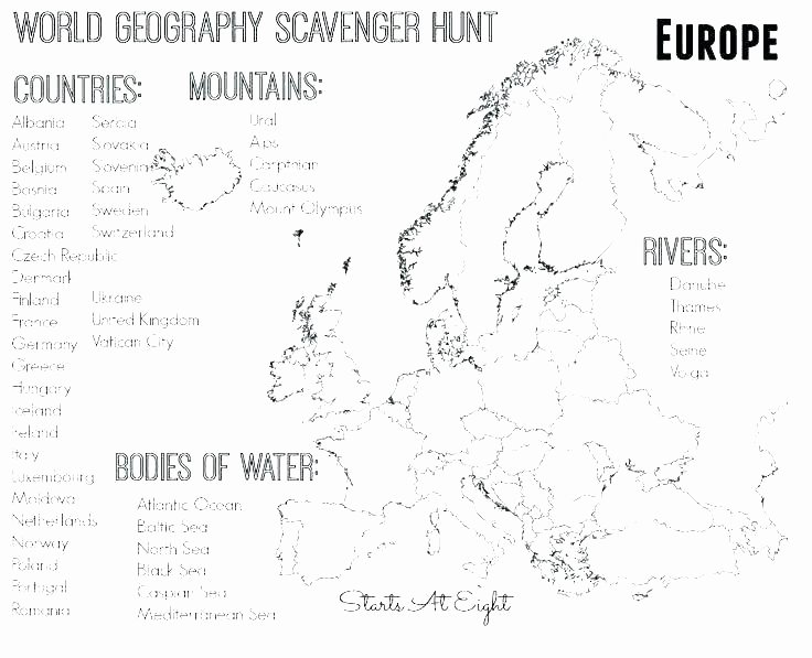 Continents and Oceans Blank Worksheet Continents Coloring Page – Productosdaymar