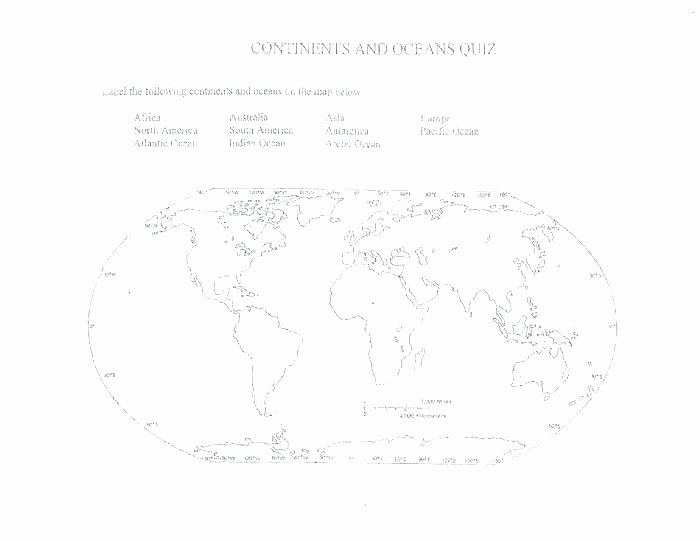 Continents and Oceans Blank Worksheet Labelling Continents Label the and Oceans Worksheet Map