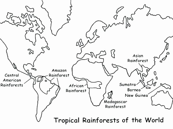 Continents and Oceans Blank Worksheet Maps Coloring Pages – Qoopon