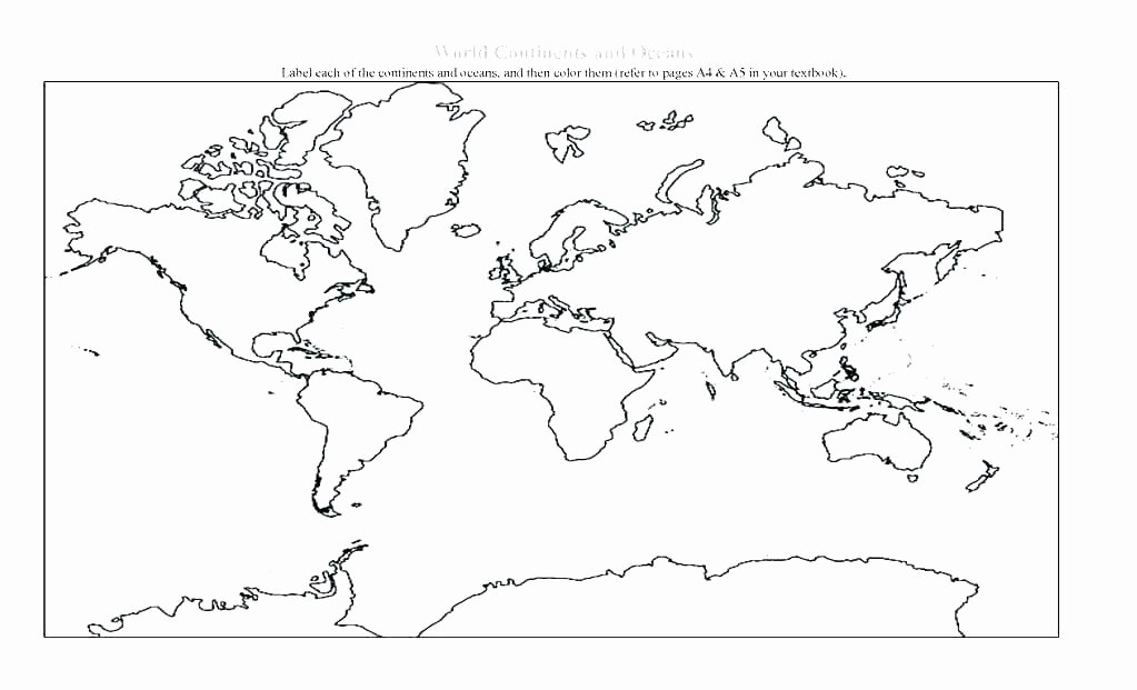 Continents and Oceans Blank Worksheet Printable Continent Coloring Pages – Nicolecreationsfo