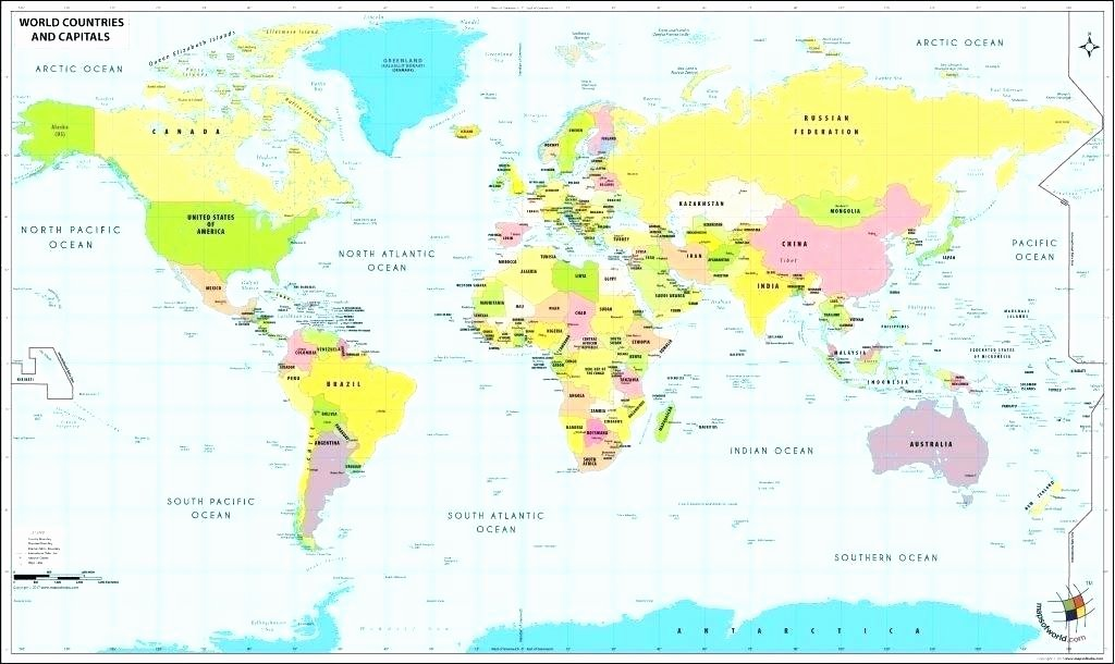 Continents and Oceans Blank Worksheet World Map with Labeled Continents – Ricenbeans