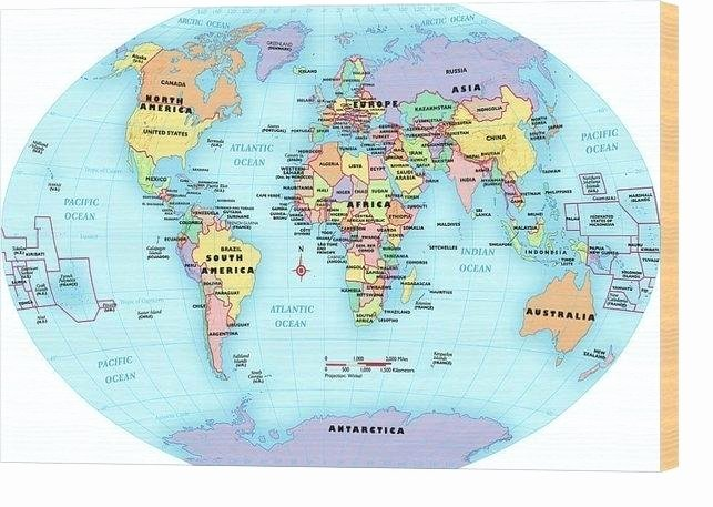 Continents and Oceans Blank Worksheet World Map with Labels – Timberwatch