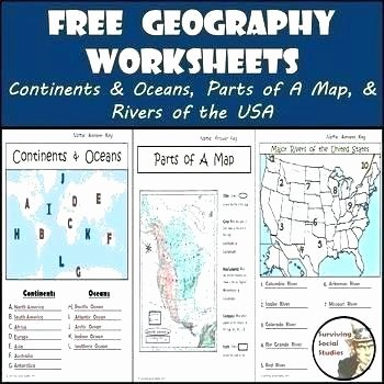 Continents and Oceans Printable Worksheets Grade Geography Worksheets Awesome Free Printable for 4th Geo
