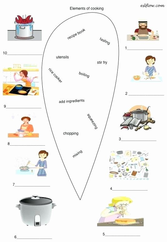 Cooking Worksheets for Middle School Archives Page Cooking Vocabulary Worksheets Cooking Words