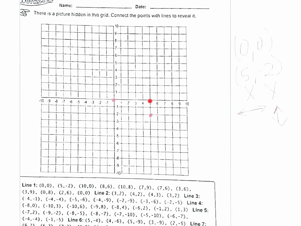 Coordinate Grid Pictures 5th Grade Coordinate Grid Picture Worksheets