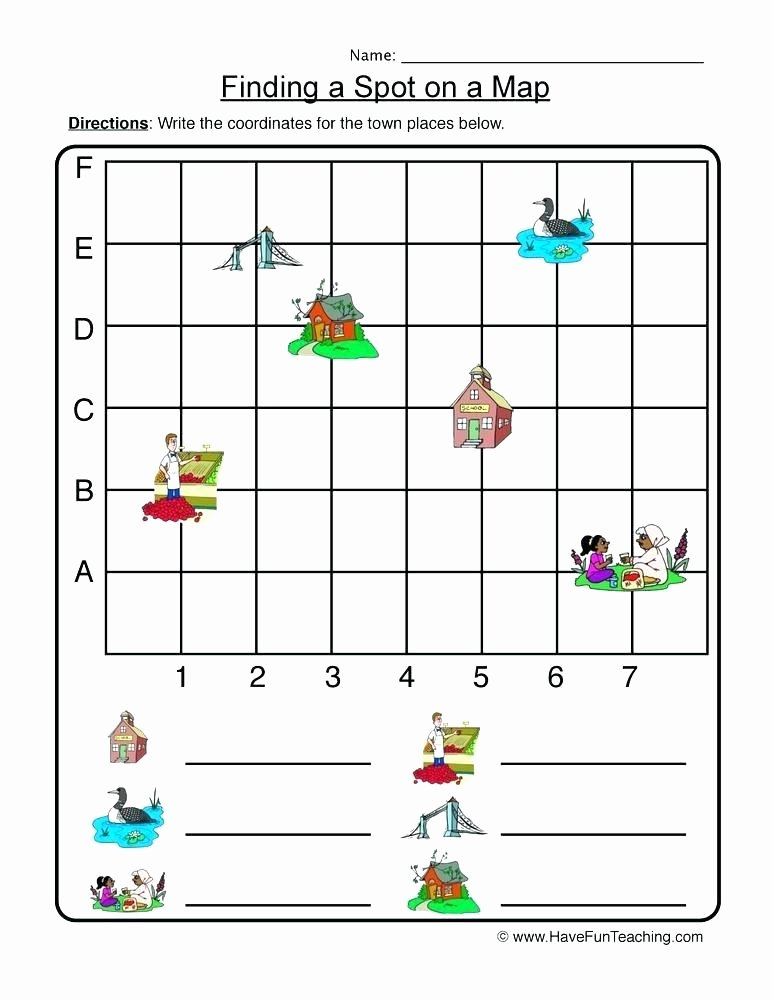 Coordinate Grid Pictures 5th Grade Grid Map Worksheets for 2nd Grade Coordinate Coordinates the