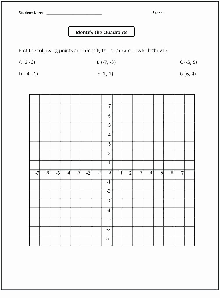Coordinate Plane Worksheet 5th Grade Plotting Points A Coordinate Plane Worksheet Lovely