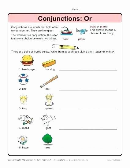 Correlative Conjunctions Worksheet 5th Grade Conjunctions Worksheets 5th Grade Correlative Fifth Free