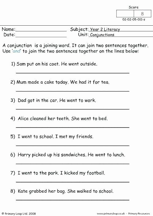 Correlative Conjunctions Worksheet 5th Grade Correlative Conjunctions Worksheets with Answers Worksheet