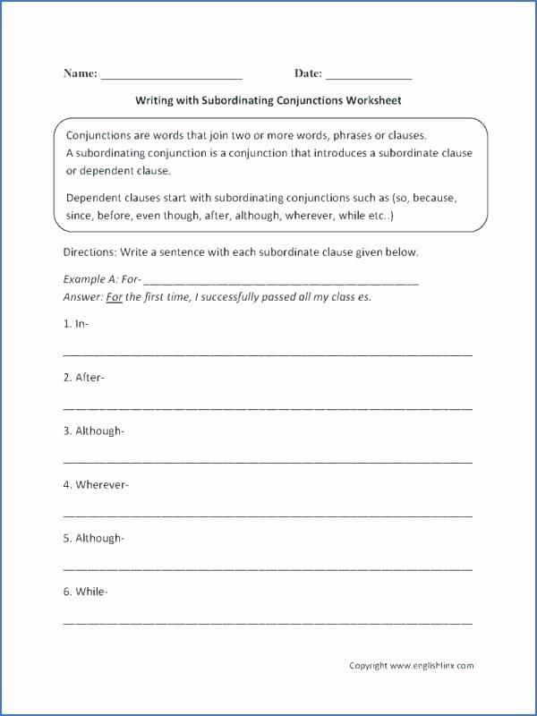 Correlative Conjunctions Worksheet 5th Grade Cover Image Conjunctions Worksheets for Grade 2 3 by