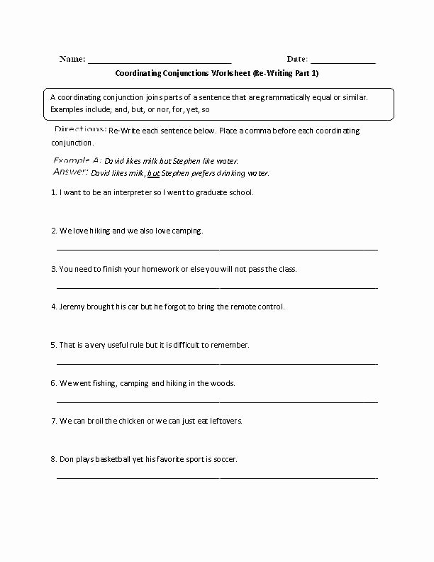 Correlative Conjunctions Worksheet 5th Grade You Main Ideas Worksheets for Third Grade Interjection