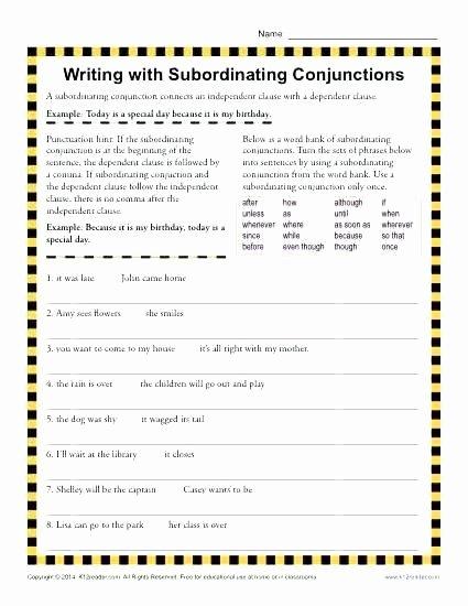 Correlative Conjunctions Worksheets Pdf Correlative Conjunctions Worksheets with Answers Conjunction