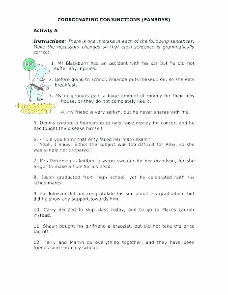 Correlative Conjunctions Worksheets Pdf Interjection Worksheets Pdf with Answers