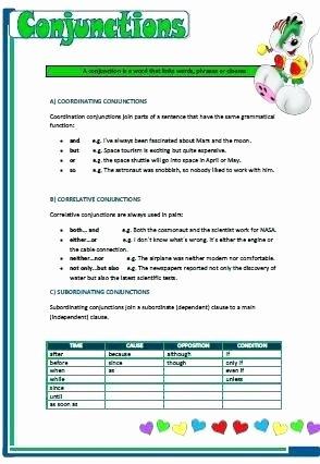 Correlative Conjunctions Worksheets Pdf Subordinating Conjunctions Worksheets – Openlayers