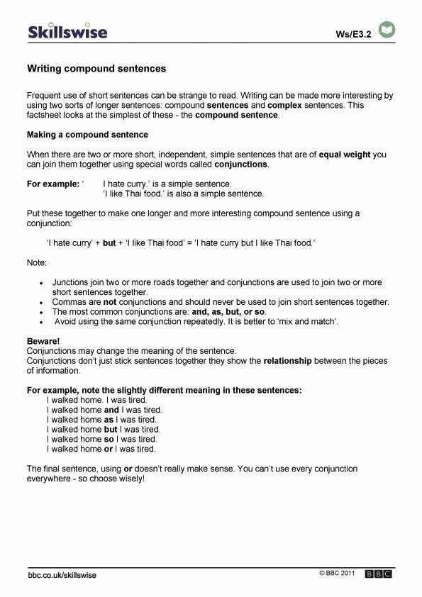 Correlative Conjunctions Worksheets Pdf Writing Pound Sentences Bining Worksheet 5th Grade Pdf