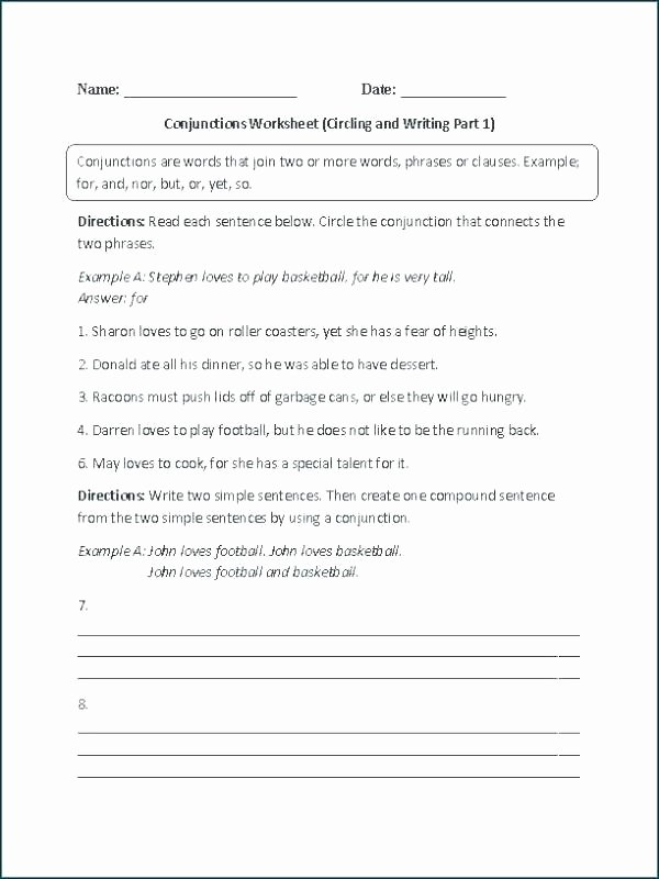Correlative Conjunctions Worksheets with Answers Conjunction Worksheets Conjunction Worksheets for Grade 2