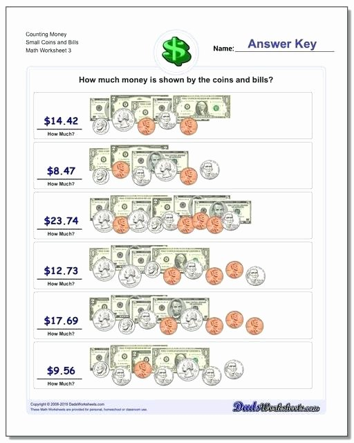 Counting Bills and Coins Worksheets Counting Bills Worksheets Grade Math Money Coins and Canadian