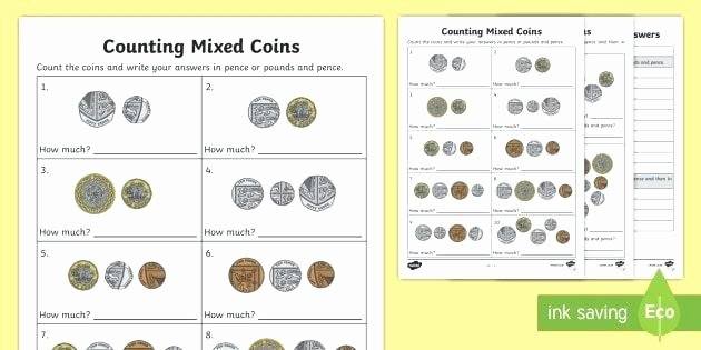 Counting Bills and Coins Worksheets Penny Worksheets Counting Coins Grade Word Problems for