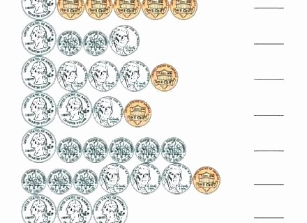 Counting Bills and Coins Worksheets Teaching Money to 2nd Grade Worksheets