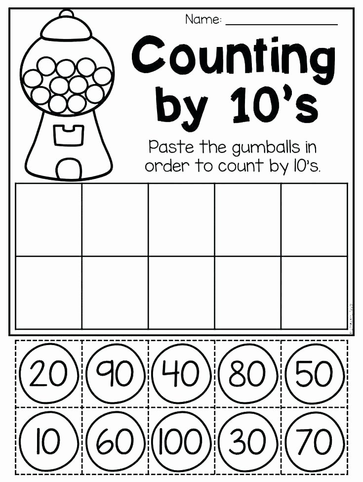 Counting Blocks Worksheets Ten Block Worksheets