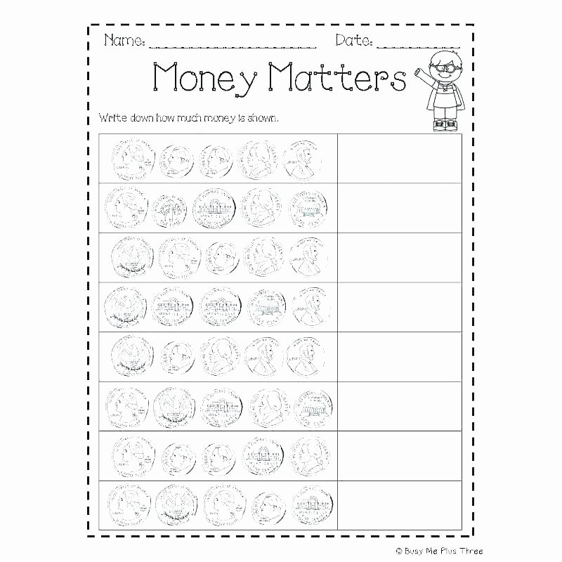 Counting Change Back Worksheets Counting Dollars Worksheets – Trungcollection