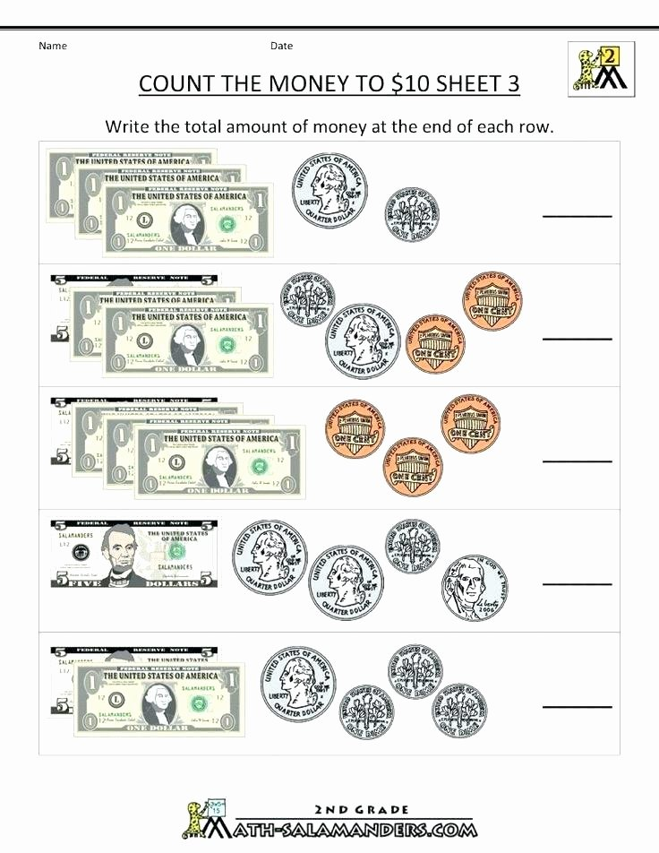 Counting Coins Worksheets 2nd Grade Count Money Worksheets Kids 1 Counting Math Aids