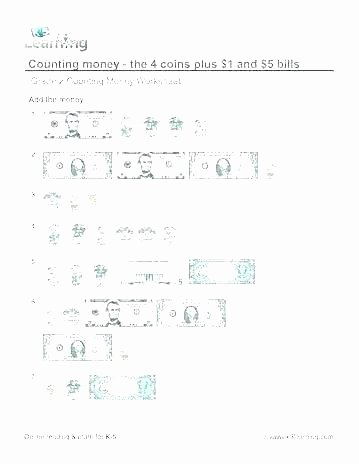 Counting Coins Worksheets 2nd Grade First Grade Money Counting Image Math Worksheets Mon Core