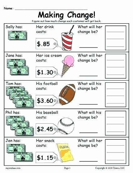 Counting Coins Worksheets 2nd Grade Second Grade Money Worksheets Kindergarten Counting Coins