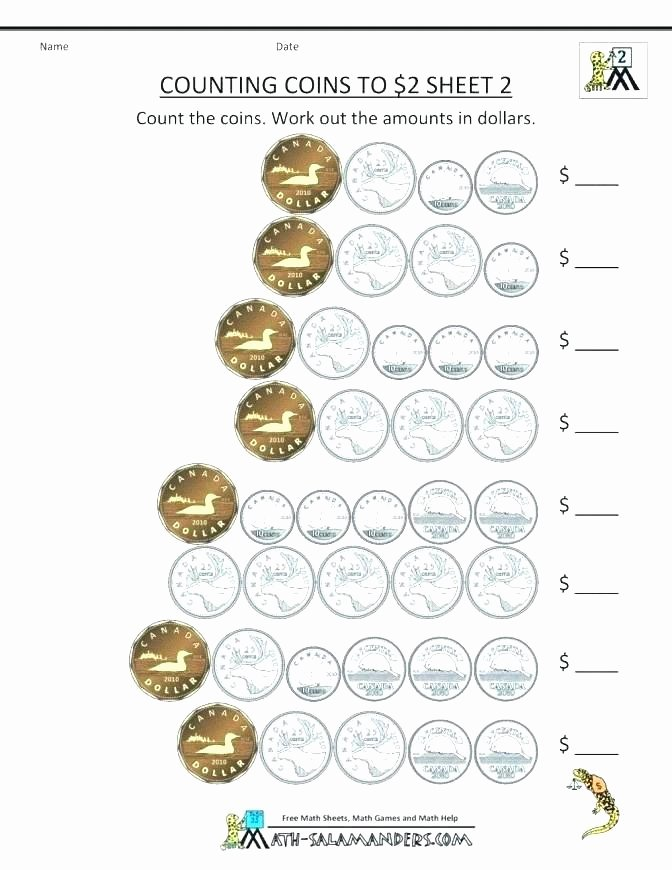 Counting Coins Worksheets First Grade Free Printable Counting Coins Worksheet School Math