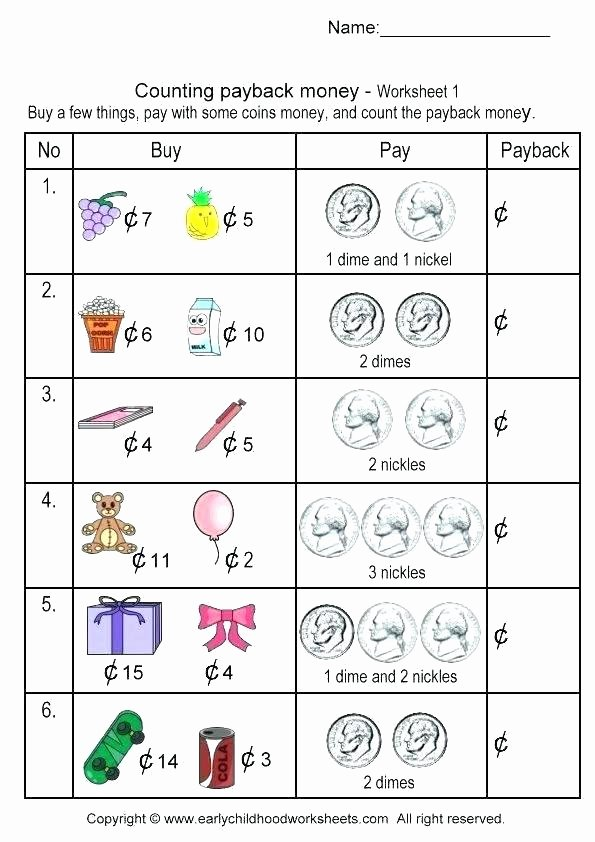 Counting Coins Worksheets First Grade Math Counting Worksheets