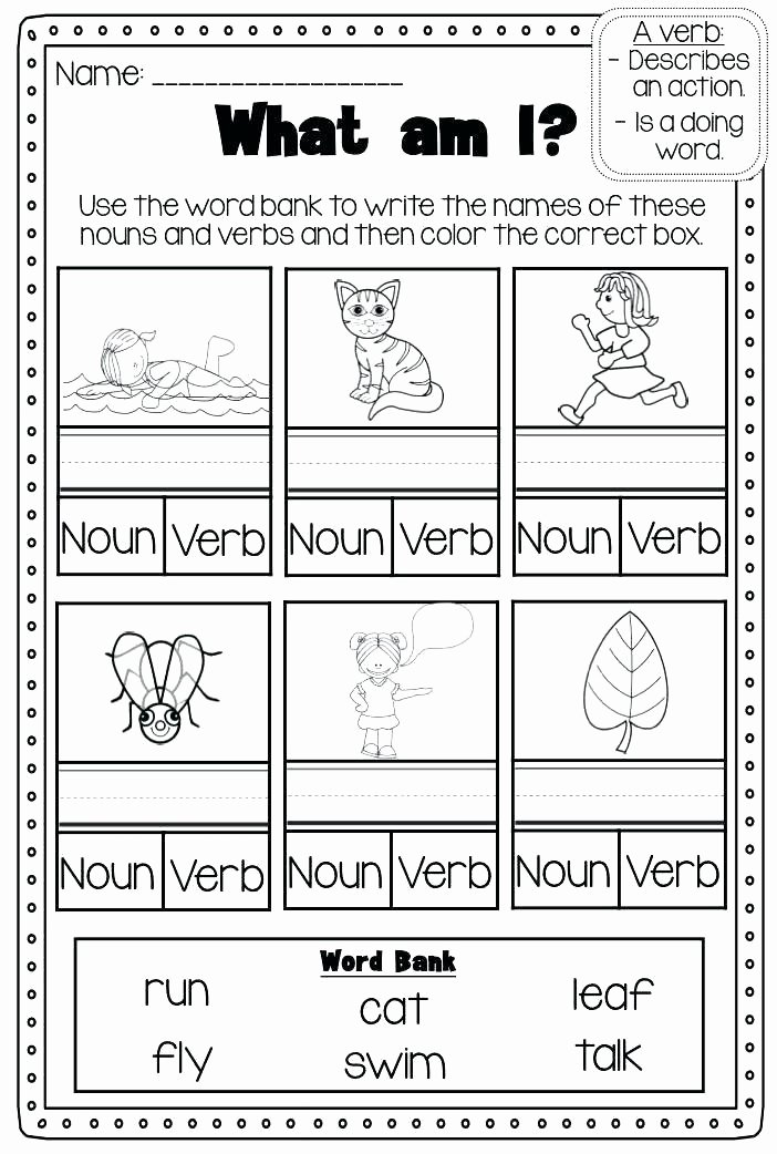 Counting Cut and Paste Worksheets Adjective Cut and Paste Worksheets