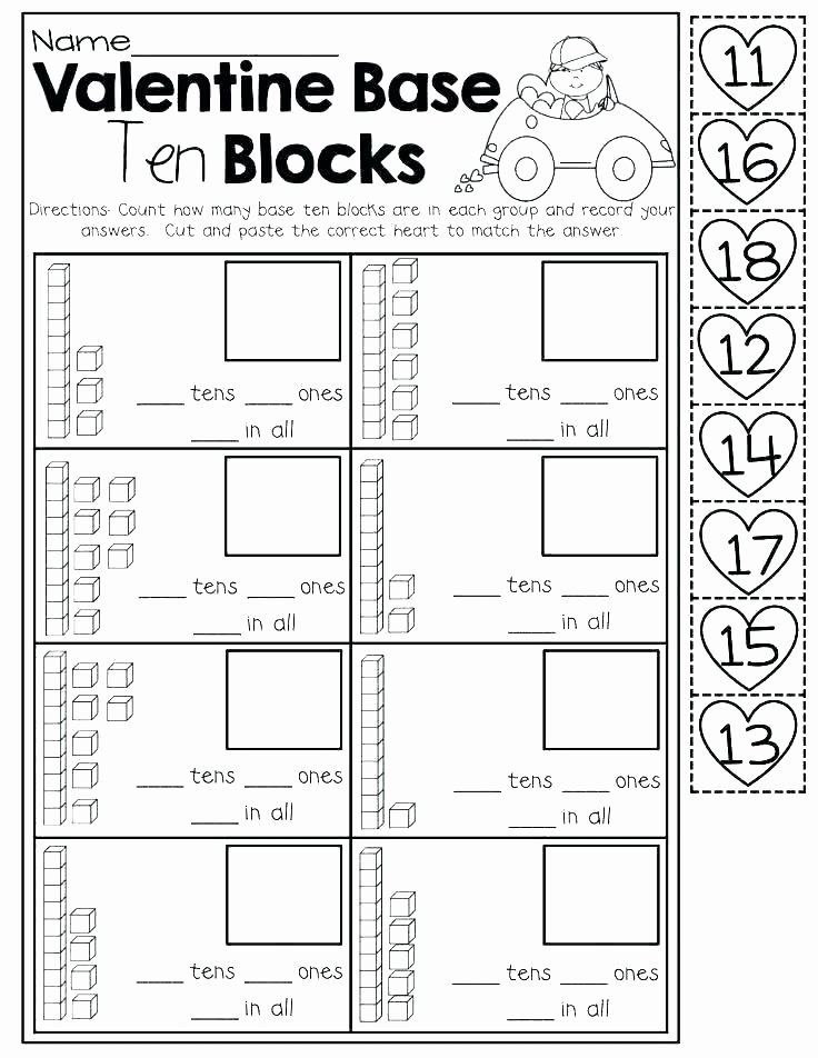 Counting Cut and Paste Worksheets Free Printable Counting Worksheets