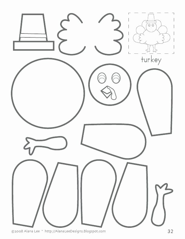 Counting Cut and Paste Worksheets Turkey Cut and Paste – On Augmentation